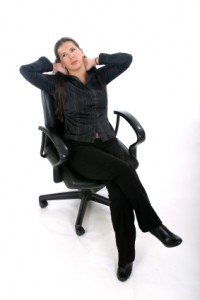 Seated Stretches at Office Chair